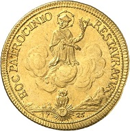 No. 1608. HRE. Charles VI, 1711-1740. 2 Ducats 1725, Prague. Yield from Eule (Jílové) mines. Extremely rare. Extremely fine. Estimate: 10,000 GBP.