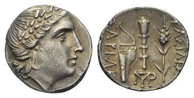 Lot 38: Thraco-Scythian Dynasties. Sariakos (179-150 BC), Drachm.