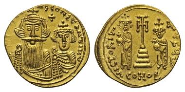 Lot 567: Constans II. (641-668AD). Solidus, 659-661, Syracuse