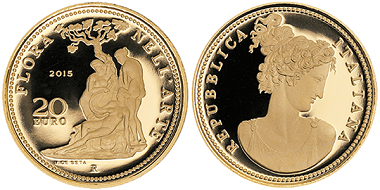 Italy was the winner in the category 'Gold coin of the year'.
