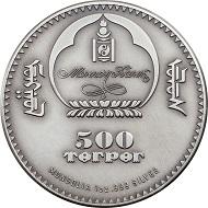 Mongolei / 500 Togrog / 1 Unze .999 Silber / 38,61 mm / Design: Coin Invest Trust / Auflage: 999.
