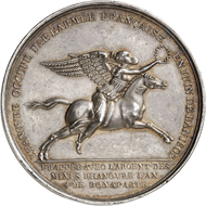 France. Medal 1803 by R. V. Jeuffroy on the breaking of the Treaty of Amiens and the occupation of Hanover. From London Coin Galleries auction in association with Künker on 1 November 2016, from multiple lot 1278. Estimate: GBP 250.