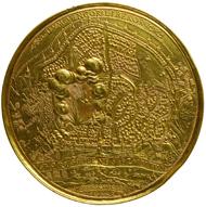 Eroberung von Smolensk durch Sigismund III. Königreich Polen, Sigismund III. Wasa (reg. 1587-1632), 1611. Unbekannter Künstler (Goldschmied oder Plakettenkünstler, tätig im süddeutschen oder böhmischen Bereich). Guss, 315 Dukaten (1104,46 g). Inv.-Nr. 276bBeta, Dm. 135 mm. © KHM-Museumsverband.