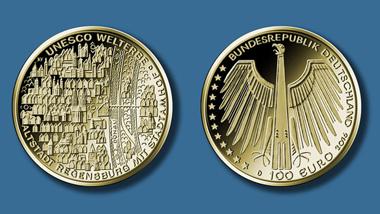 So sieht die neue 100-Euro-Goldmünze aus. Quelle: BADV.
