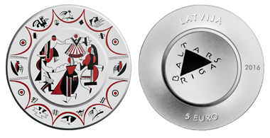 Latvia / 5 Euros / Silver .925 / 18g / 38.61 mm / Design: Franceska Kirke / Mintage: 5000.
