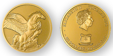 Tokelau / 100 Dollars / Gold .9999 / 1oz / 33mm / Mintage: 50.