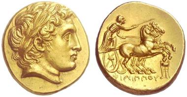 Makedonisches Königreich, Philipp II. Stater, 359-336 v.Chr.