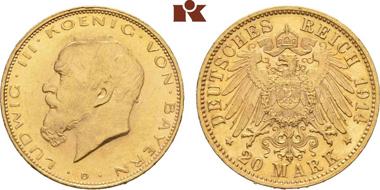 Bayern, 20 Mark 1914.