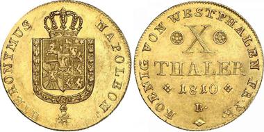Westfalen, Königreich, 10 Taler Gold 1810 B.