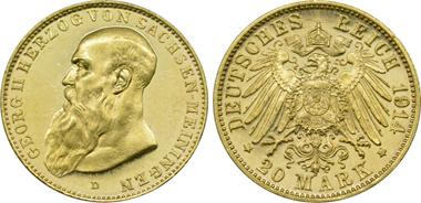 Kaiserreich Sachsen-Meiningen, 20 Mark 1914.