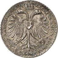 Nr. 4634: RDR. Maximilian II., 1564-1576. Silbermedaille 1566, wahrscheinlich aus der Werkstatt Nickel Milicz, Joachimstal. Sehr selten. Originalprägung. Vorzüglich. Taxe: 3.500,- Euro. Zuschlag: 11.000,- Euro.