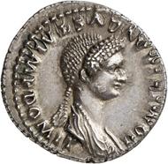 Nr. 573: DOMITIA. Denar, 82/3 Rom. Selten. Vorzüglich. Taxe: 4.000,- Euro. Zuschlag: 26.000,- Euro.