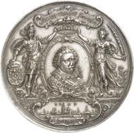 Nr. 4046: S'HERTOGENBOSCH (Niederlande). Silbermedaille 1630 von A. van der Wilge. Sehr selten. Vorzüglich. Taxe: 6.000,- Euro. Zuschlag: 17.000,- Euro.