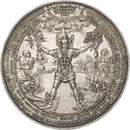 Nr. 4769: HAMBURG (Altdeutschland). Silbermedaille 1636, von S. Dadler. Vorzüglich. Taxe: 20.000,- Euro. Zuschlag: 40.000,- Euro.