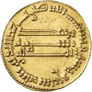 Nr. 5603: FRANKREICH / KAROLINGER. Karl der Große, 768-814. Dinar / Solidus mancusus 157 AH (= 773/774), geprägt ca. 780-793, unbestimmte karolingische Münzstätte. Sehr selten. Vorzüglich. Taxe: 2.500 Euro. Zuschlag: 13.000 Euro.