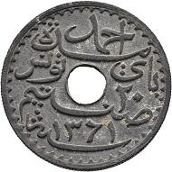 Tunesien als französisches Protektorat. 20 Centimes 1942 Zink.
