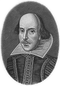 William Shakespeare, portrait by Droeshout.