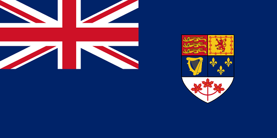 Precursor to the Canadian flag until the year 1965. It not only depicts the red maple leaf, but also the French lily. Source: Iman0613 / https://creativecommons.org/licenses/by-sa/3.0/deed.de.