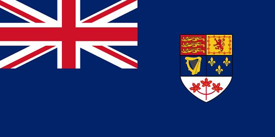 Vorgänger der kanadischen Fahne bis zum Jahr 1965, zu sehen ist nicht nur das rote Ahornblatt, sondern auch die französische Lilie. Quelle: Iman0613 / https://creativecommons.org/licenses/by-sa/3.0/deed.de