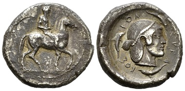 Lot 52: Sicily, Syracuse Didrachm circa 480, Rare. Very Fine / Good Very Fine. Ex NAC sale 54, March 2010, 717. Starting Bid: 600 GBP.