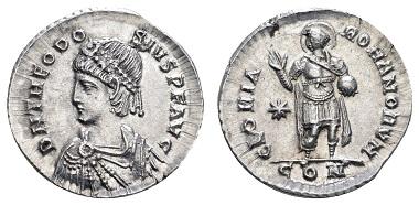 Theodosius II. (402-450). Miliarense, 408-420, Constantinopolis. Ausruf: 1.000 Euro.