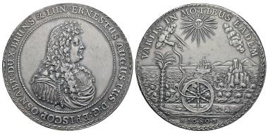 Braunschweig-Calenberg-Hannover. Ernst August (1679-1698). Löser zu 4 Reichstalern, 1680, Zellerfeld. Ausruf: 10.000 Euro.