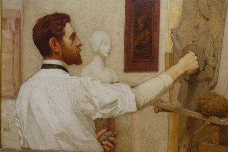 Kenyon Cox (1856-1919) Augustus Saint-Gaudens, oil painting 1908, Metropolitan Museum of Art / Photo: Ursula Kampmann.