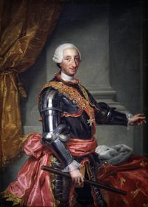 Portrait of Charles III by Anton Raphael Mengs, 1761.