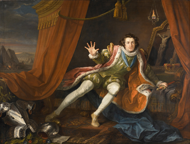 David Garrick as Richard III. By William Hogarth, 1745. Walker Art Gallery. Tent scene before the Battle of Bosworth: Richard is haunted by the ghosts of those he has murdered.
