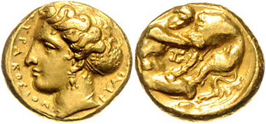 Los 53: Sizilien, Stadt Syrakus, 100-Litren, sig. Euainetos. Prachtexemplar. Selten. vz. Schätzpreis: 10.000 EUR.