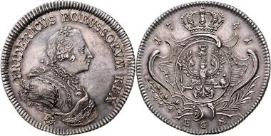 Los 1655: Brandenburg-Preußen, Friedrich II., Taler 1741 EGN. vz+/st. Schätzpreis: 6.450 EUR.