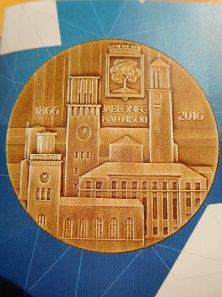 Medaille 150 Jahre Liberec n.Nisou. Foto: © Mathias Koksch.