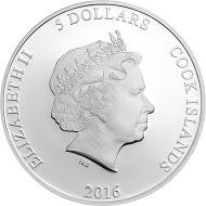 Cook Islands / 5 Dollars / 1 Unze .999 Silber / 38,61 mm / Design: Coin Invest Trust / Auflage: 999.