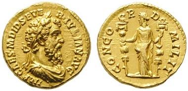 Lot 108: Didius Iulianus (193). Aureus. Gold RRR vzgl. Startpreis: 80.000 EUR.