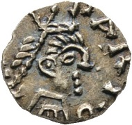 Los 1338: MEROWINGER. Chlodwig II. (639-657). Tremissis / Triens des ELIGIUS, Paris. Elektron RR. vzgl. Startpreis: 10.000 EUR.