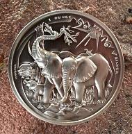 Die neue 1000-Francs-Prägung für Kamerun 2016 von Victor Huster.