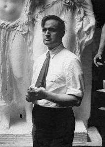 James Earle Fraser. Photograph in his studio, ca. 1920. Source: Wikipedia.
