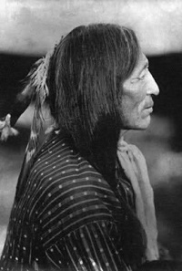 It is said that Chief Iron Tail, Sinté Mazá was used as a model for the Buffalo Nickel. Photo: Wikipedia.