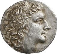 Lot 205: Mithridates VI, 120-63 (Pontus). Tetradrachm, 67/6. Almost extremely fine / FDC. Estimate: 3,000 euros. Hammer price: 7,000 euros.