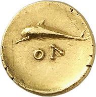 Lot 59: Olbia (Sarmatia). Quarter stater, ca. 360-320. Extremely fine. Estimate: 6,000 euros. Hammer price: 11,000 euros.