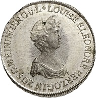 Lot 4566: Saxe-Meiningen. Louise Eleonore as tutor. 20 kreuzers 1812, Saalfeld. Only 4 specimens known. FDC. Estimate: 12,000 euros. Estimate: 22,000 euros.