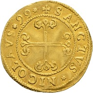 Lot 5145: Switzerland. Gold gulden 1599 Fribourg. Nearly extremely fine. Estimate: CHF 25,000. Hammer Price: CHF 34,000.