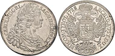Los 2133: RDR. Karl VI., 1711-1740. Reichstaler 1738, Prag. Vorzüglich/Stempelglanz. Schätzung: 400 EUR. Zuschlag: 2.200 EUR.