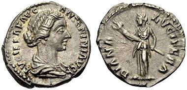 Los 319: Lucilla, (gest. 182). Denar, 164-169. Vorzüglich/Gutes sehr schön. Schätzung: 200 Euro.