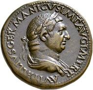 Los 298: Vitellius, 69. Sesterz. Selten. Vorzüglich / Fast vorzüglich. Schätzpreis: 10.000 Euro. Startpreis: 6.000 Euro.