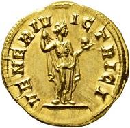 Los 453: Magna Urbica, Gattin des Carinus 283-285. Aureus, 284. Sehr selten. FDC. Schätzpreis: 40.000 Euro. Startpreis: 24.000 Euro.
