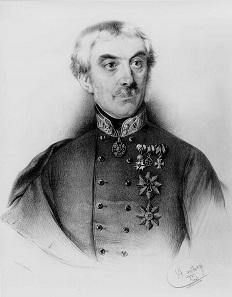 Anton Prokesch von Osten als Feldmarschall-Leutnant, Lithographie von Adolf Dauthage, 1853.