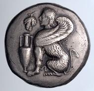 Chios, Tetradrachme, ca. 400 bis ca. 350 v. Chr., Inv.-Nr. 52.156, von Anton Prokesch von Osten dem Joanneum im Jahr 1839 übergeben, Foto: UMJ, N. Lackner.