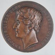 Porträtmedaille auf Anton Prokesch von Osten, Medailleur: Konrad Lange; von Prokesch von Osten 1857 dem Joanneum geschenkt, Foto: UMJ.