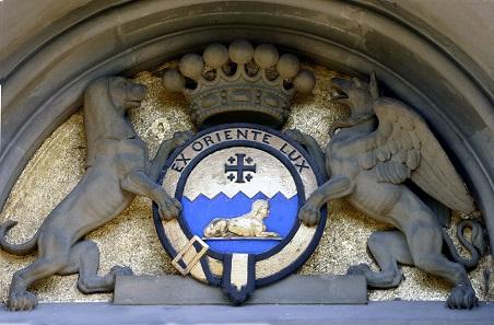 Wappen des Anton Prokesch von Osten mit der Devise
